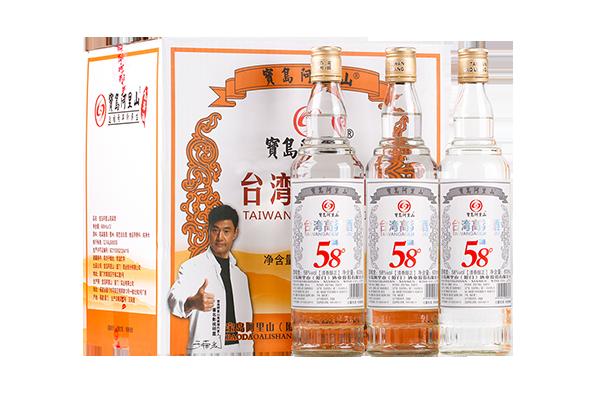 宝岛阿里山高粱酒银标口粮酒台湾 58度清